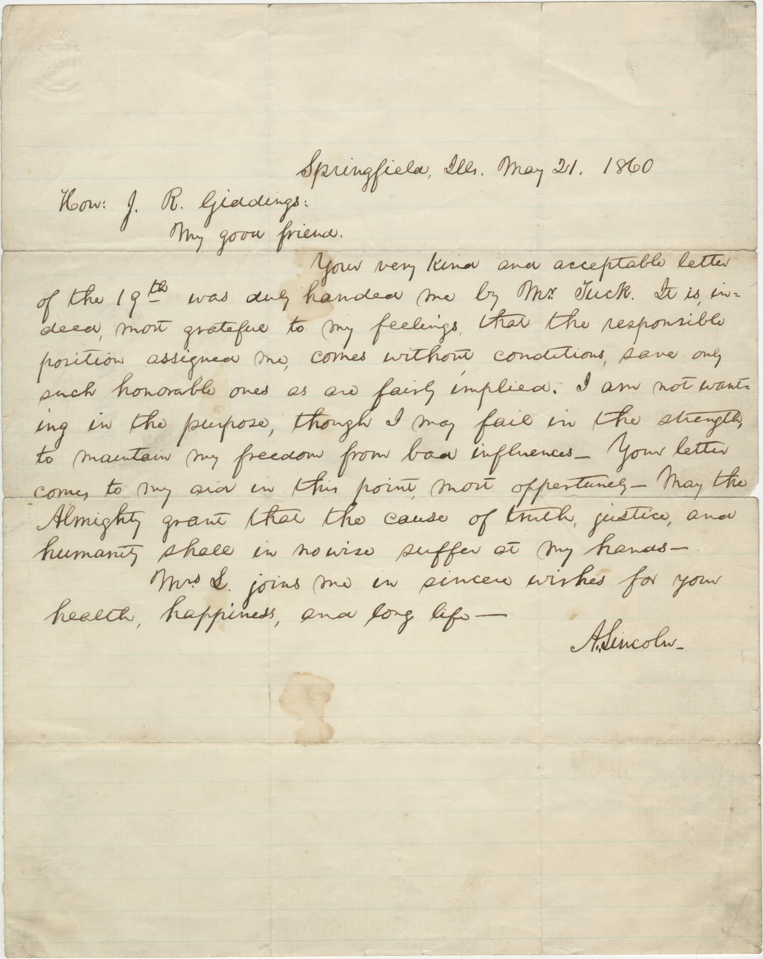 """Abraham Lincoln's Prayer To """"The Almighty"""" For Himself And The Nation - A Singular Letter"""