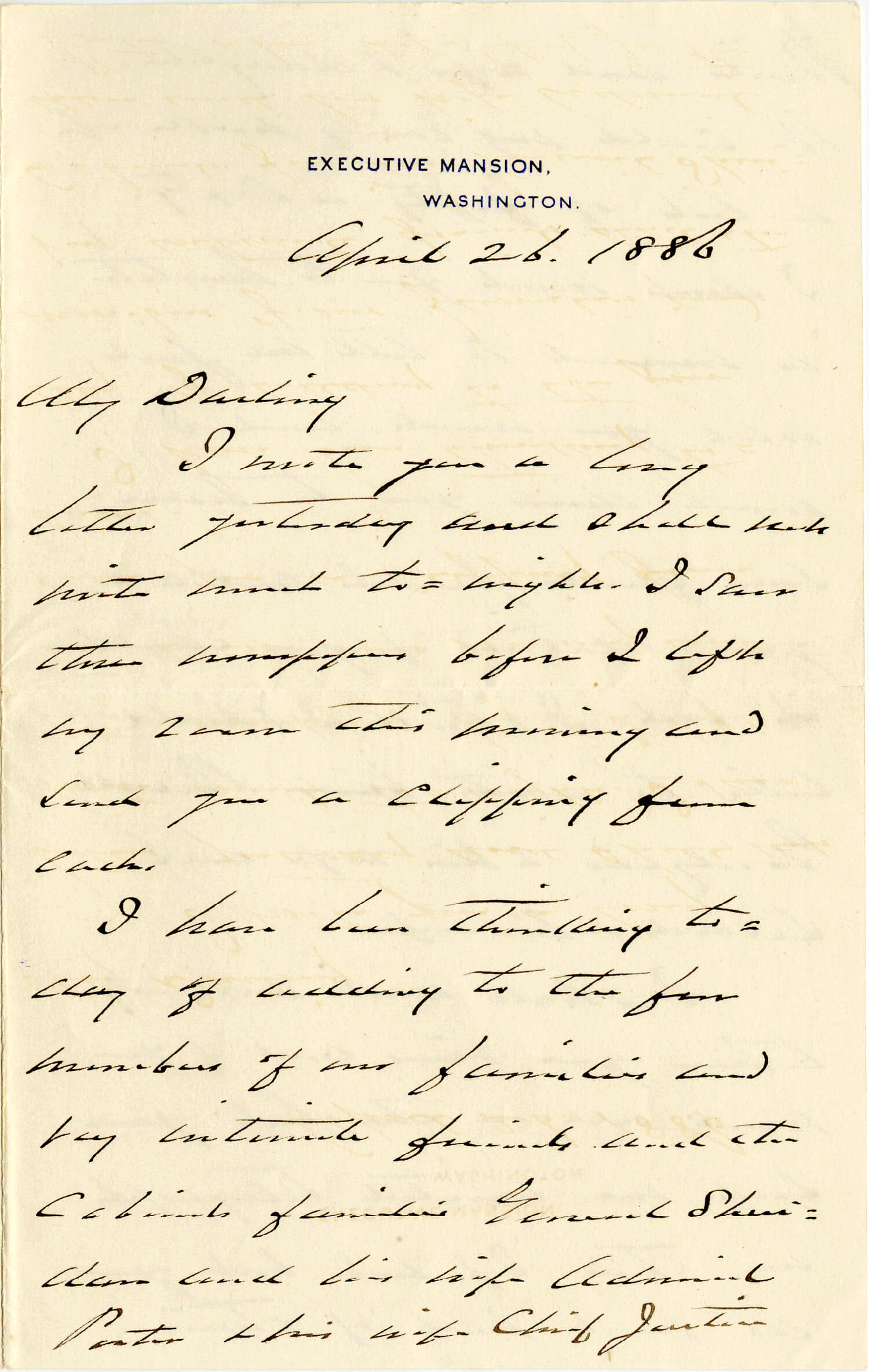 Grover & Frances Cleveland: Cleveland Writes To His Bride-To-Be About Their Wedding