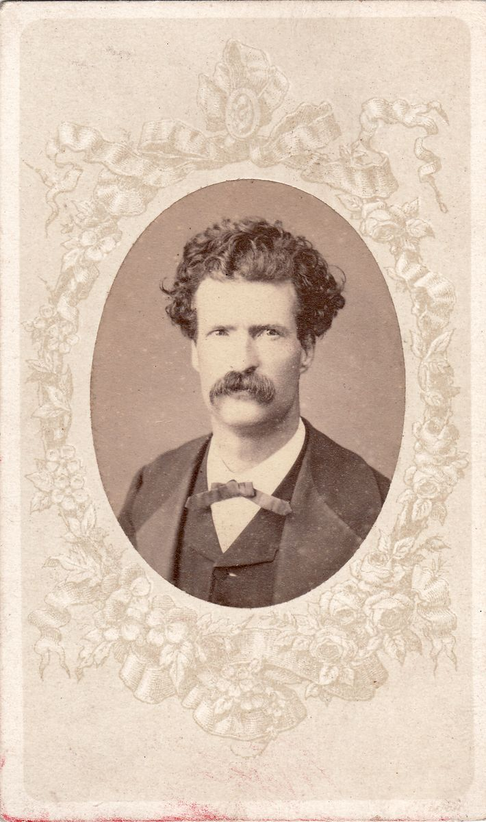 Mark Twain Signed Photo by Abdullah Frères in Constantinople