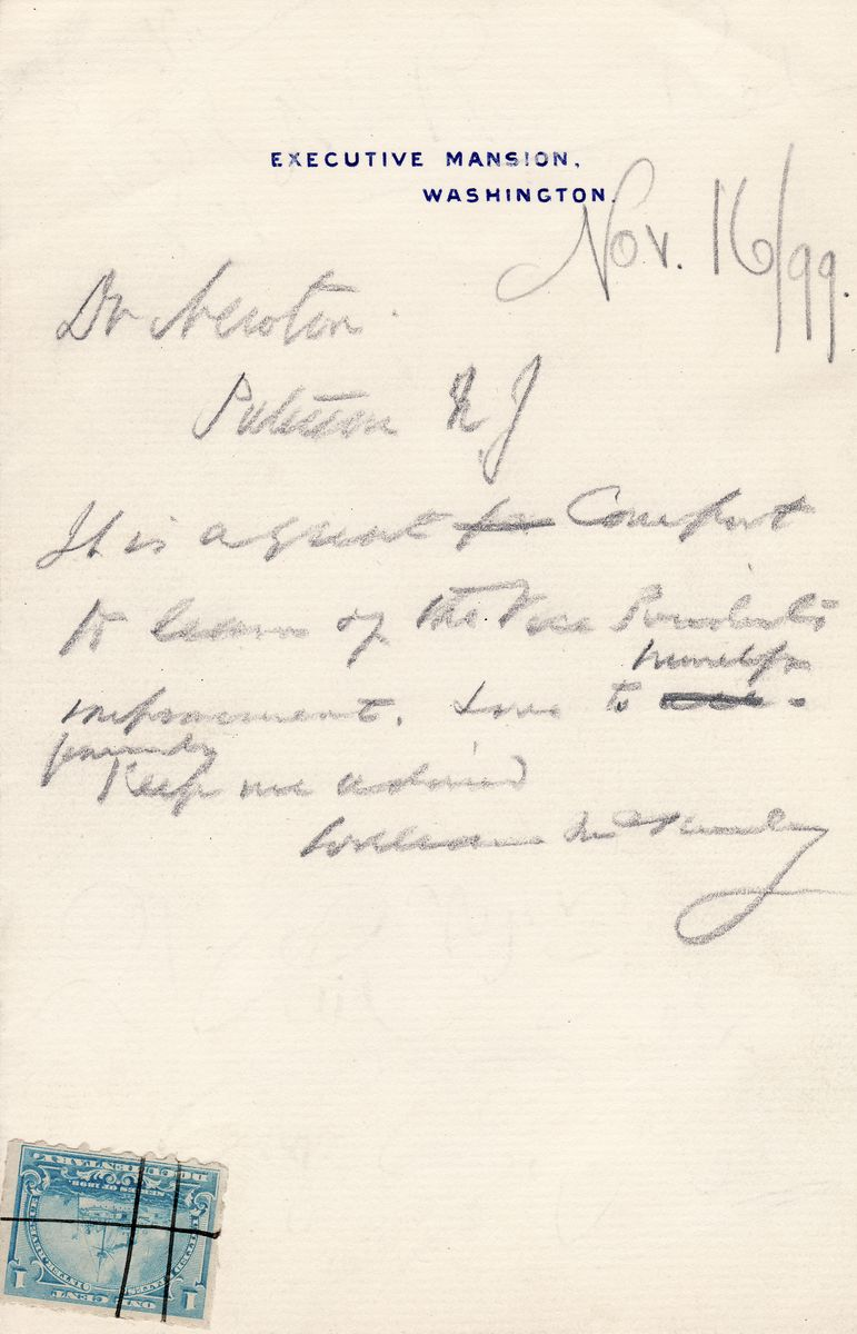 McKinley is Comforted to Learn That His Gravely-Ill Vice President is Improving - 5 Days Before Hobart Dies