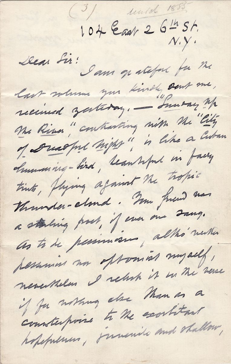 "Herman Melville ""Disinters,"" a Rare Copy of ""Clarel: A Poem and Pilgrimage in the Holy Land"" to Send it to an Admirer"