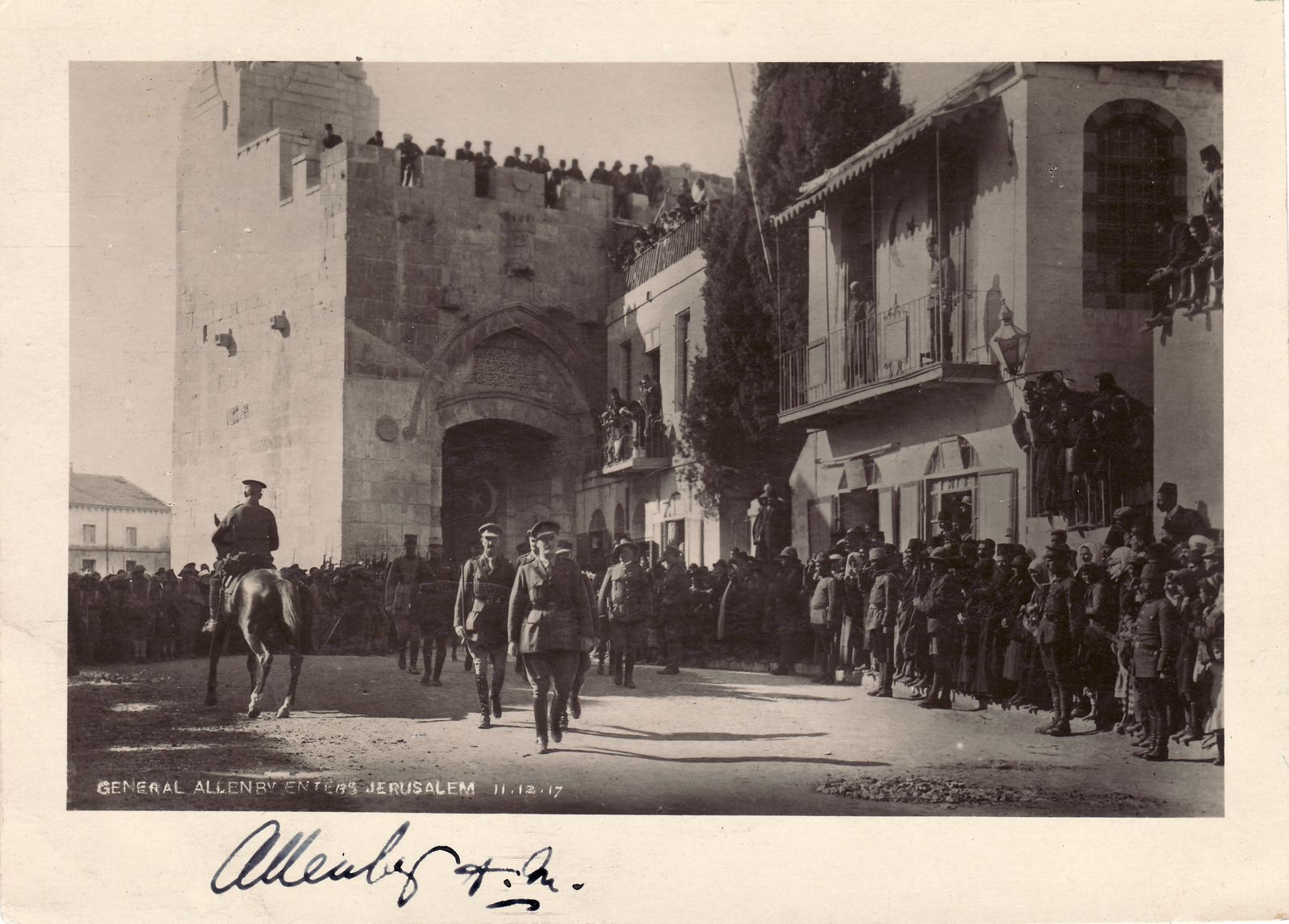 General Edmund Allenby Commemorates His Victorious Entrance Into Jerusalem One Year Later
