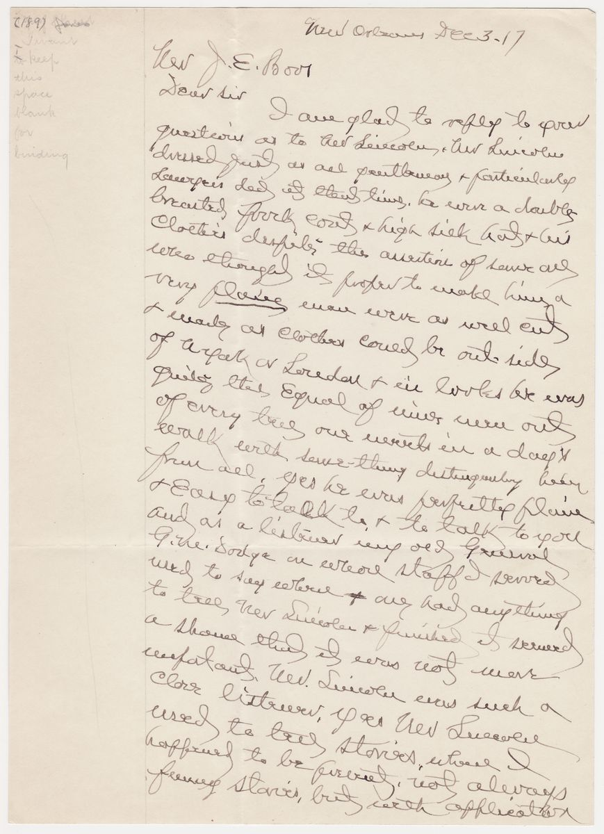 "Lincoln Directs His ""Loyal and Sensible"" Jewish Friend, Abraham Jonas to Review a Case of Disloyalty"