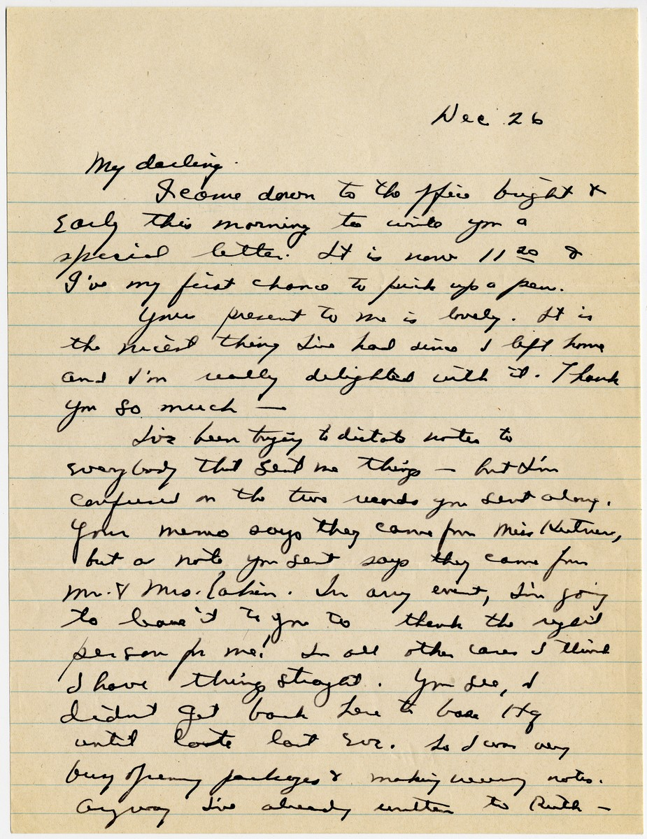 Homesick General Eisenhower Writes of a WWII Visit to Jerusalem and Levant at Christmas
