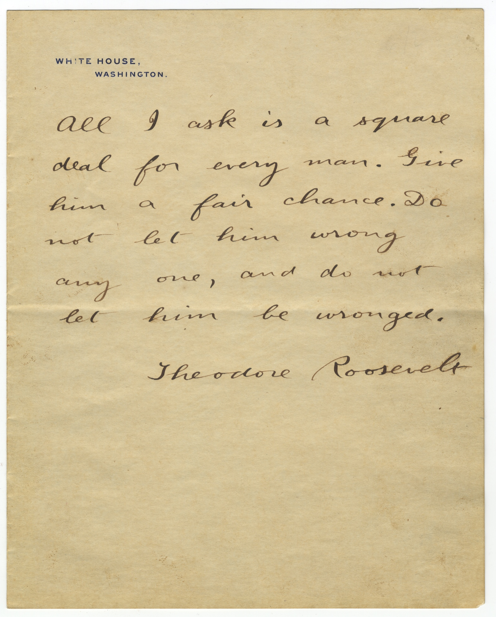 Theodore Roosevelt, Readying for His Inauguration, Complains of Bad Tailoring