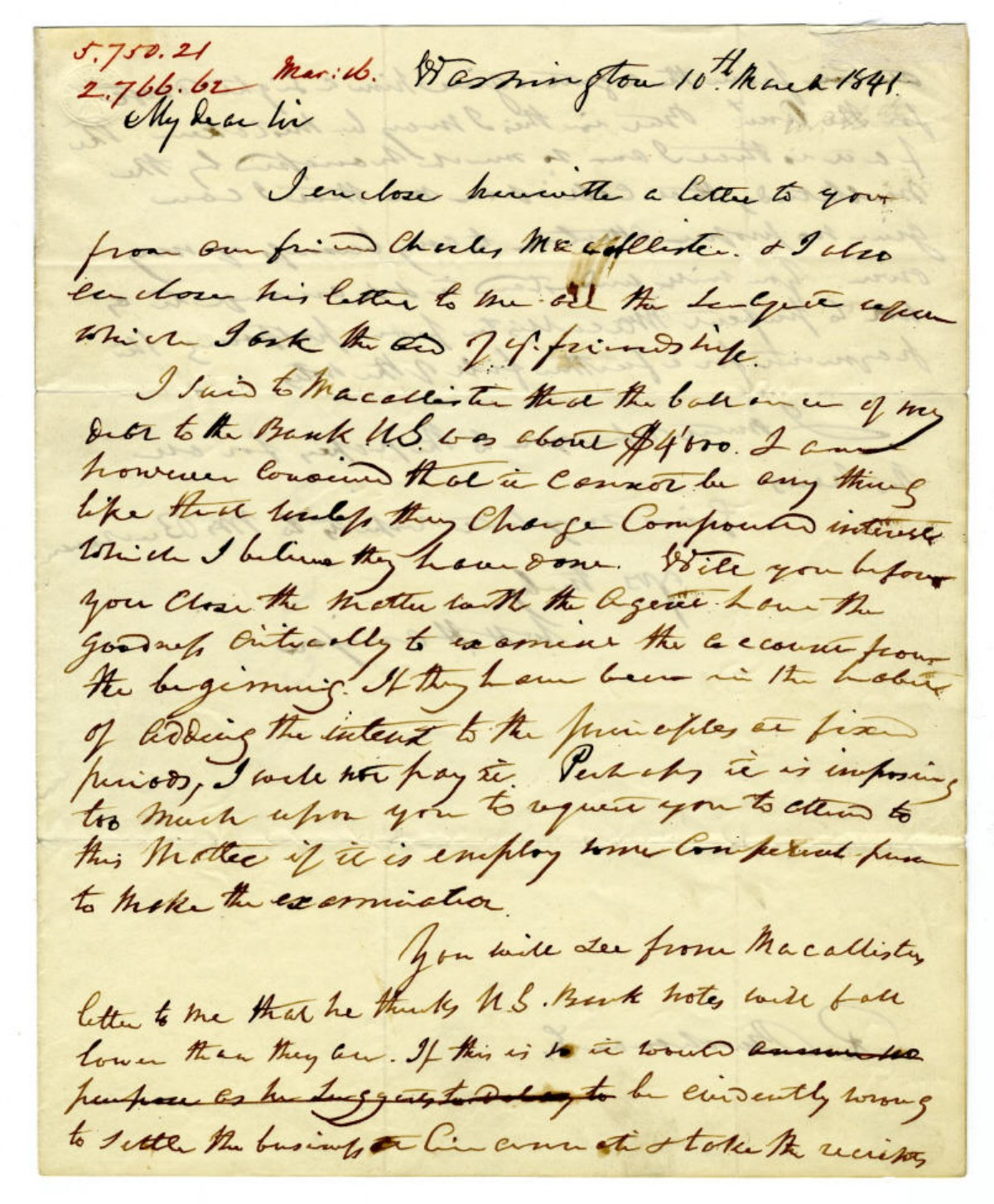 William Henry Harrison's Secretary Announces Harrison's Impending Death