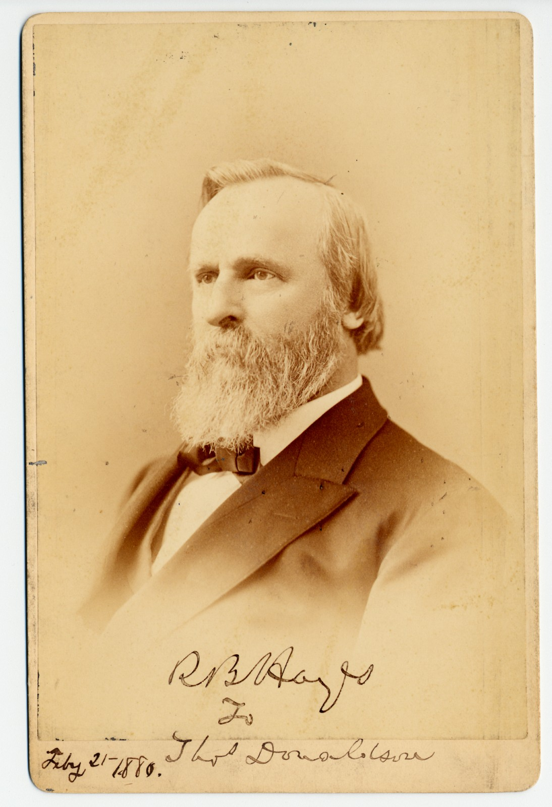 Rutherford B. Hayes Signed Photograph as President