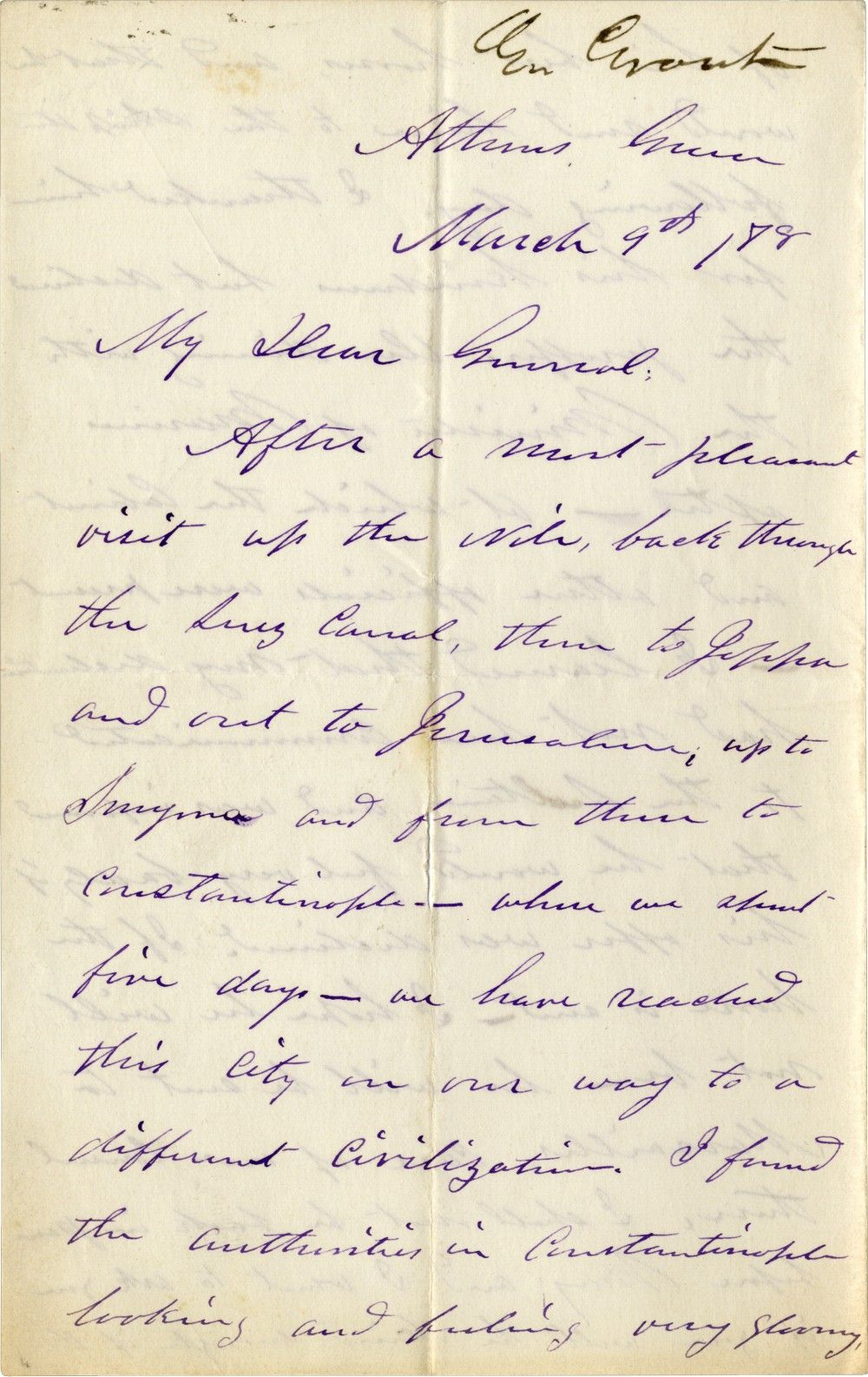 Ulysses S. Grant Comments on the Refugees Who Have Fled to Constantinople
