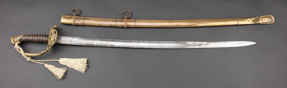 Alexander Hart's Civil War Sword and Scabbard, Presented Upon His Promotion to Captain