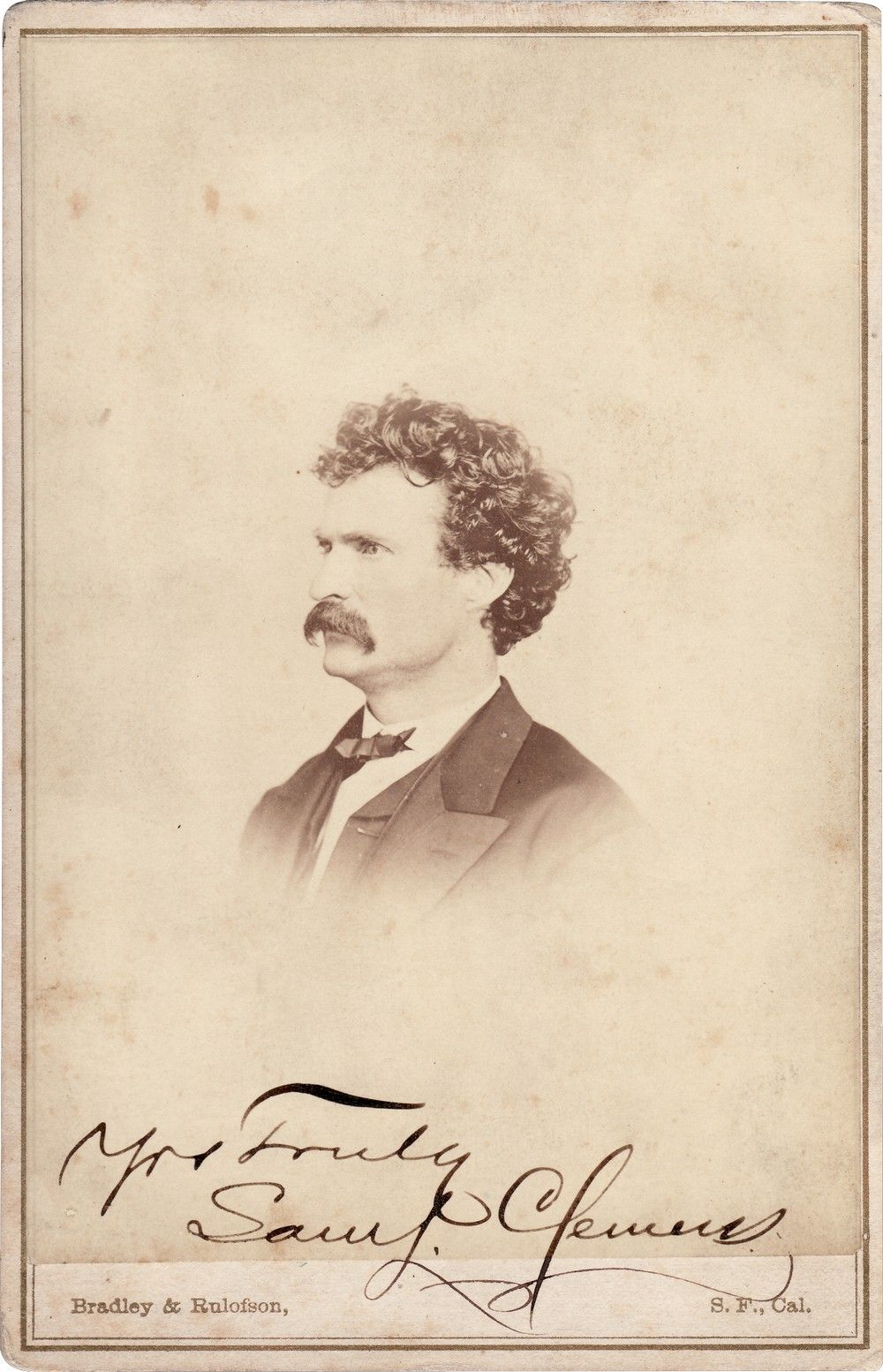 Mark Twain 1868 Signed Photo