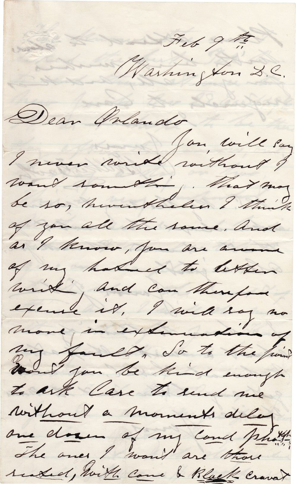 John Wilkes Booth Letter, Written Eight Weeks Before Lincoln's Assassination, Mentions Ford's Theatre
