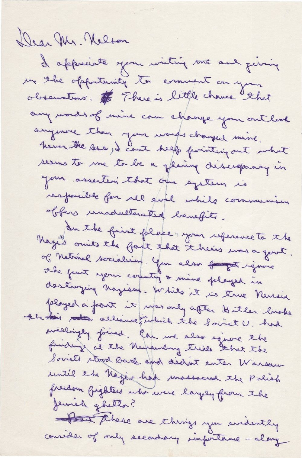 Ronald Reagan Writes About How Jews from the Warsaw Ghetto Joined the Polish Uprising Against the Nazis
