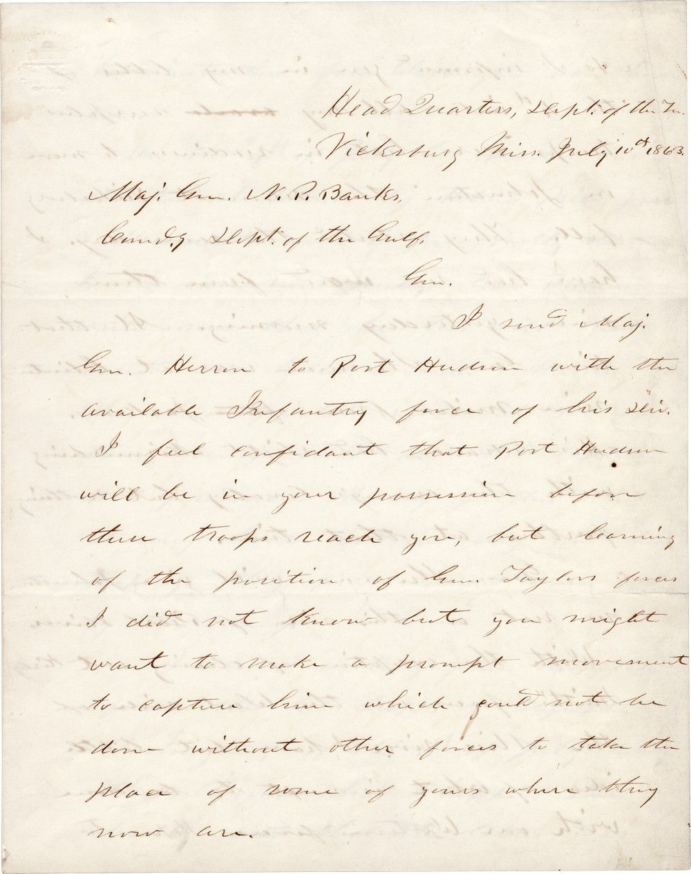 """Fresh From His Capture of Vicksburg, Ulysses S. Grant Reports From Gettysburg: """"Meade Whipped Lee Badly"""""""