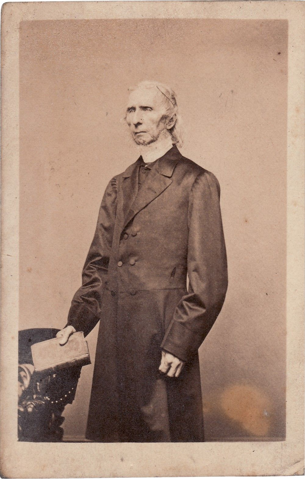 Carte-de-Visite of Abolitionist Crusader Rabbi David Einhorn