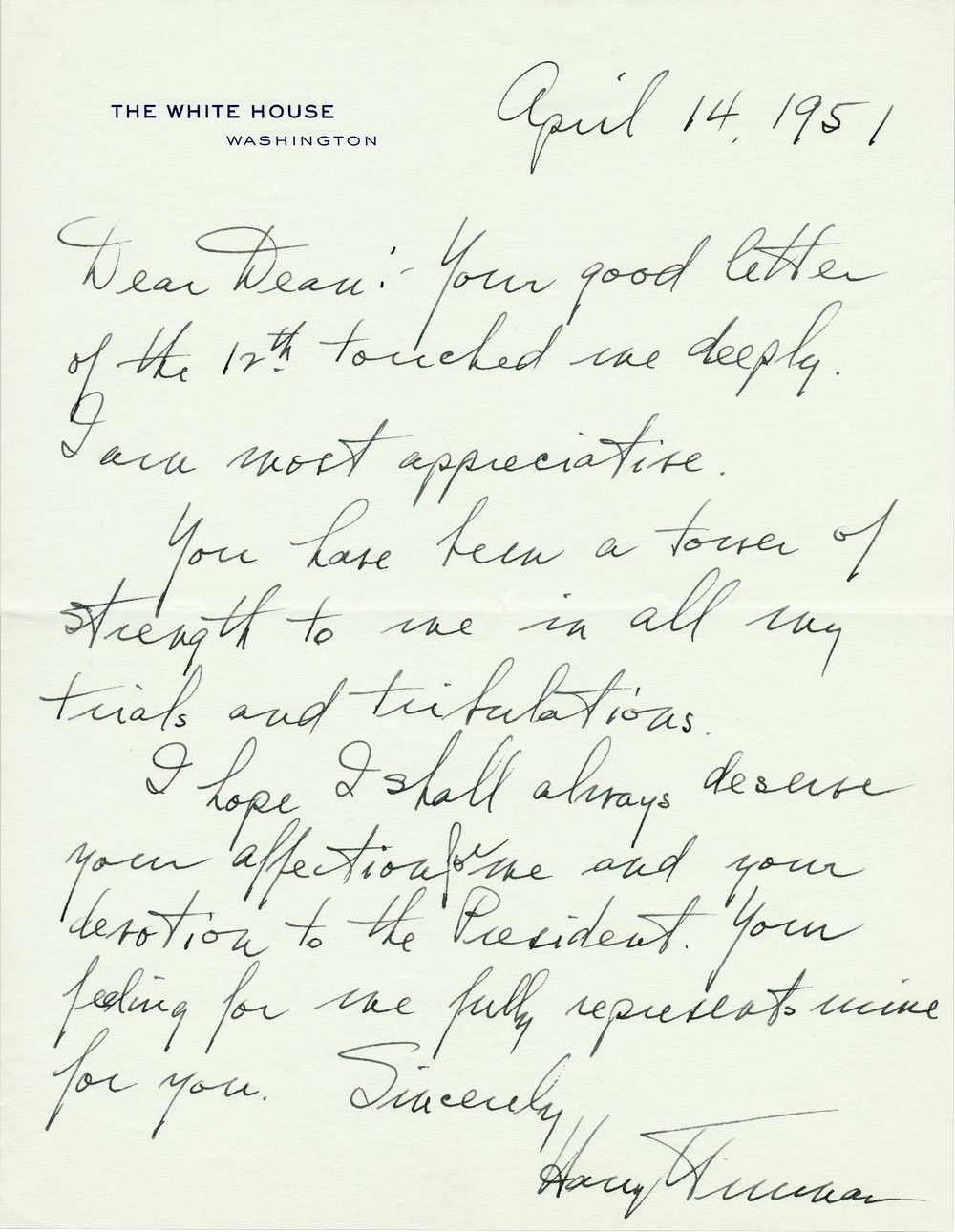 "Shortly After Firing General MacArthur, President Truman Writes of His ""Trials and Tribulations"""