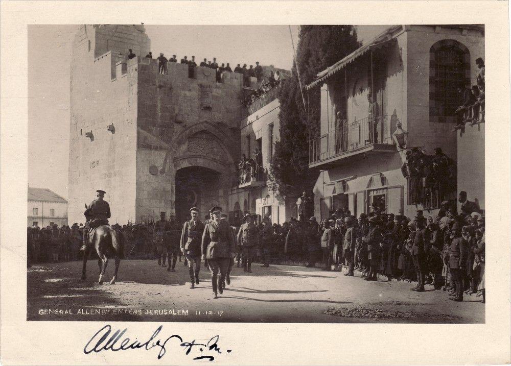 Signed Photo of Edmund Allenby Entering Jerusalem