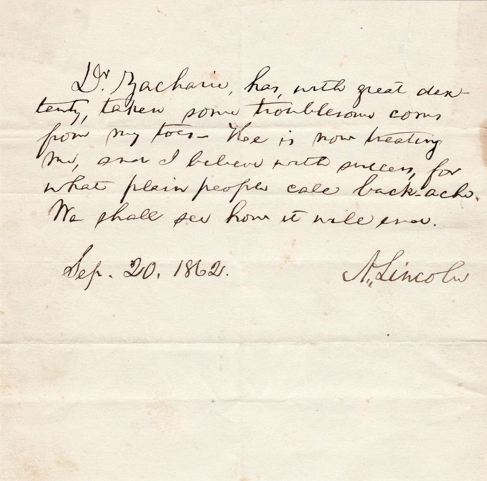Abraham Lincoln on Issachar Zacharie, His Mysterious Jewish Foot Doctor and Personal Spy