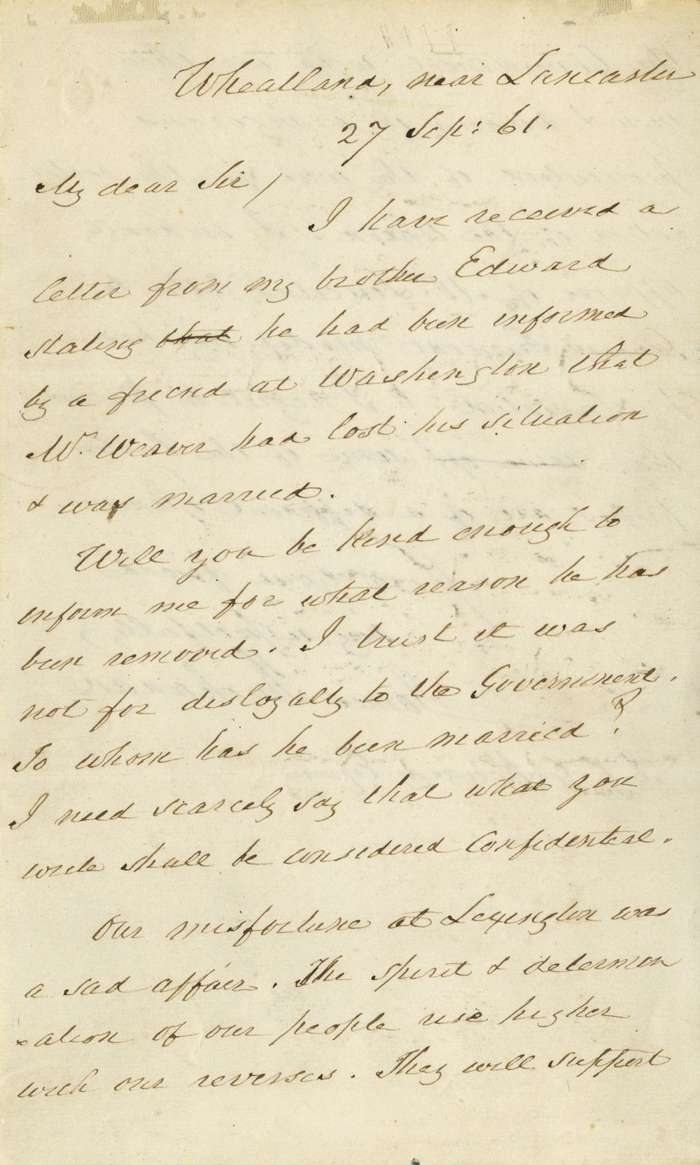 Buchanan Approves Abraham Lincoln's Ordering Fremont to Rescind His Emancipation Proclamation