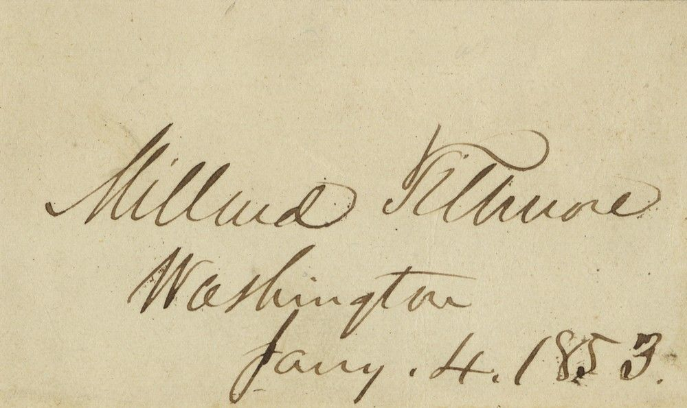 Early Variant of Executive Mansion Card Signed by American President Millard Fillmore