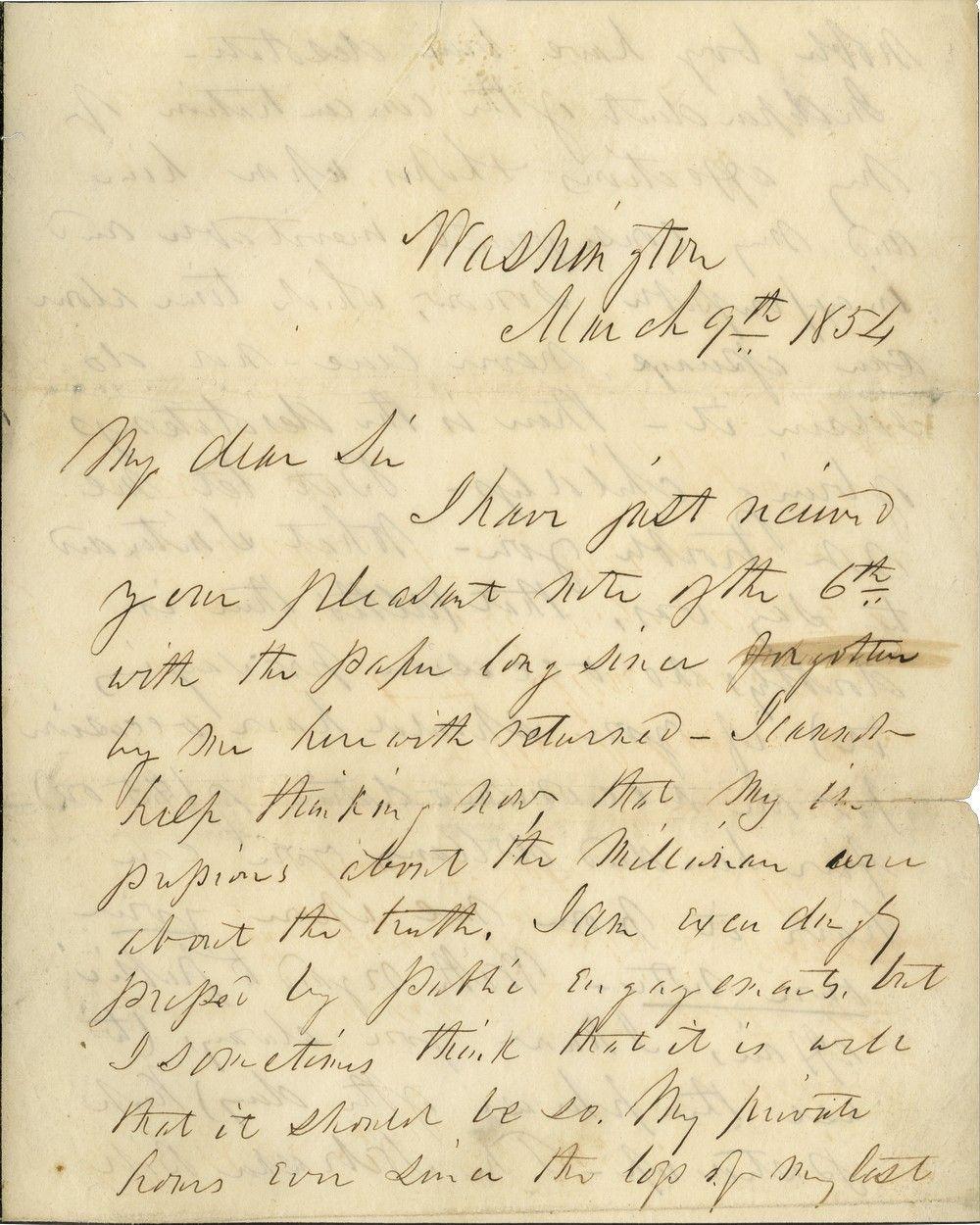 "President Franklin Pierce Warmly Endorses the Kansas-Nebraska Act as ""Demonstrably Right and Patriotic"""