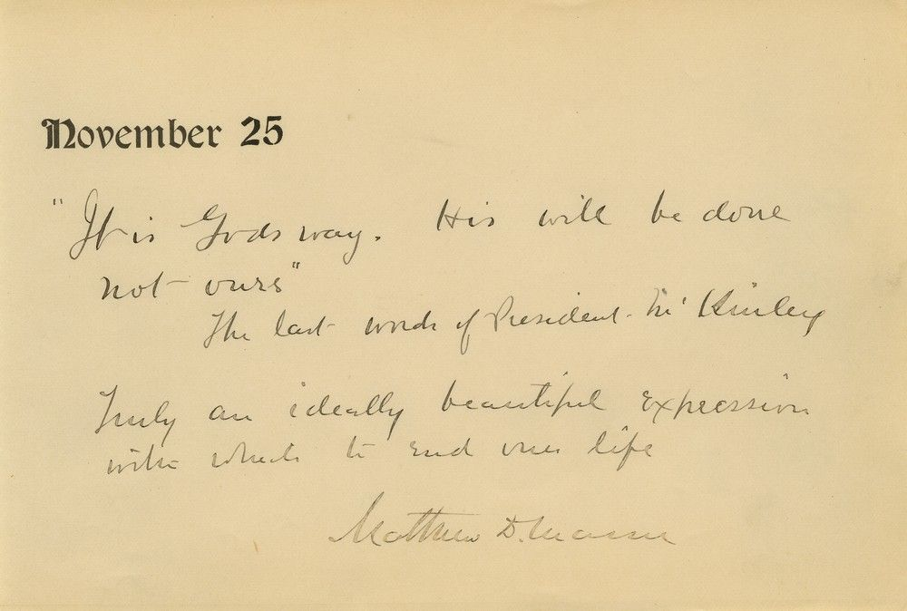 Physician of Assassinated President William McKinley Quotes McKinley's Last Words