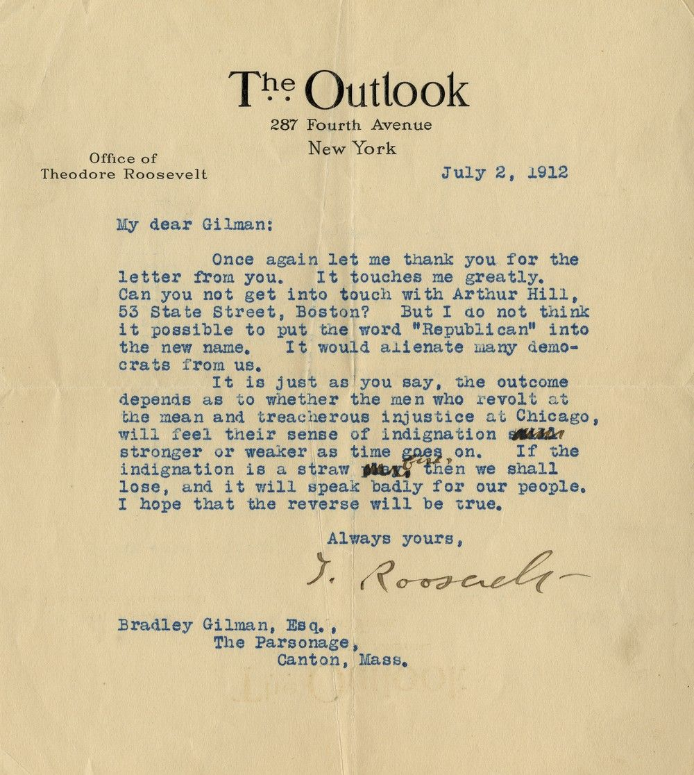 """Theodore Roosevelt on the """"Treacherous Injustice at Chicago"""" and His New Bull Moose Party"""