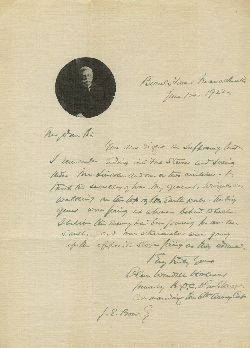 Oliver Wendell Holmes: At Fort Stevens, Abraham Lincoln Was Forced to Duck From Enemy Fire