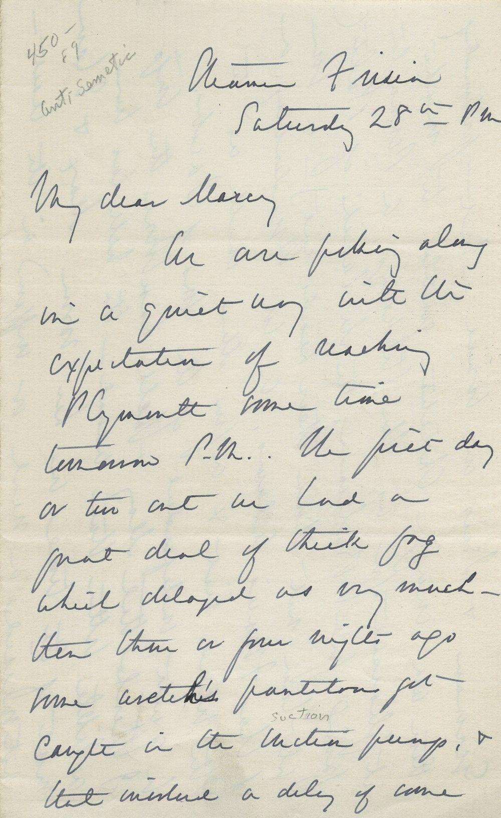 American Civil War Union General George B. McClellan's Antisemitic Letter