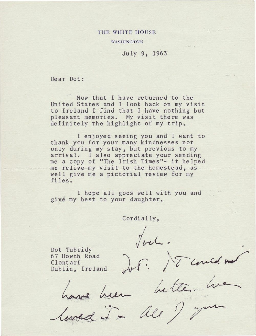 "President John F. Kennedy On His Historic Trip to Ireland: ""It Couldn't Have Been Better. We Loved It."""