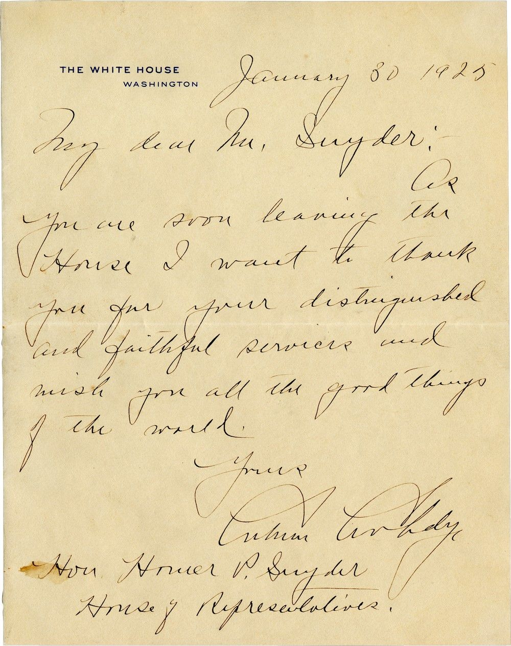 Scarce President Calvin Coolidge Autographed Letter Signed as President