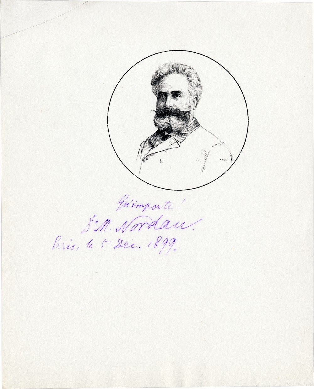 Signed Etching of Max Nordau