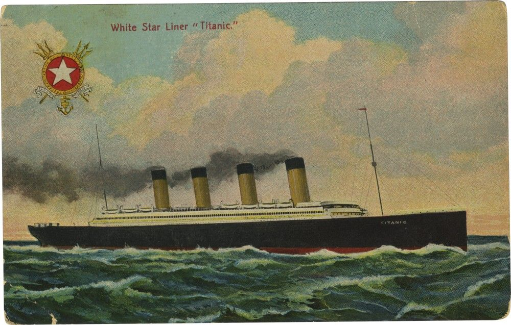 "Titanic Postcard: Rare Postcard From the Titanic - Sent at Beginning of Voyage; Ship ""A Peach,"" In NY ""Next Tuesday"""