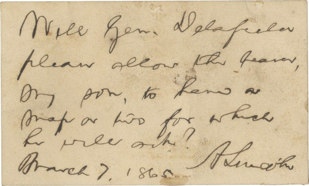 "Lincoln Requests a ""Map or Two"" For His Youngest Son, Tad"
