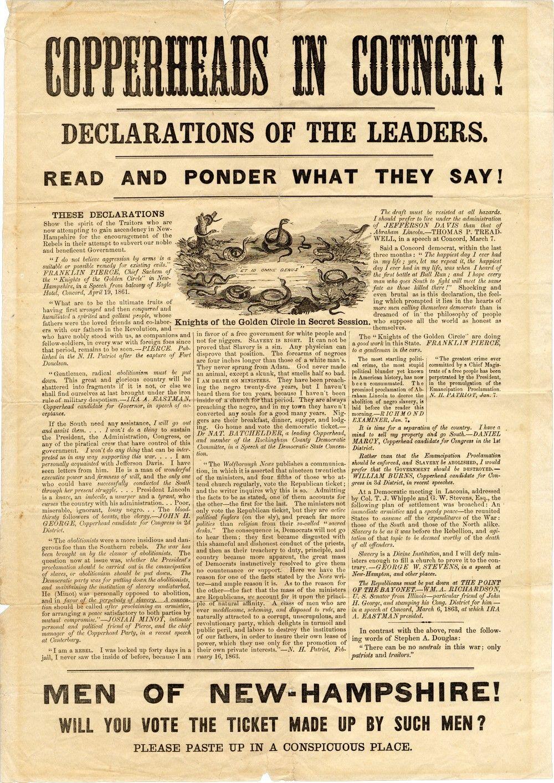 An Anti-Copperhead Broadside Denouncing Former President Franklin Pierce as a Traitor