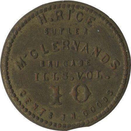 Ten-Cent Henry Rice Sutler Coin