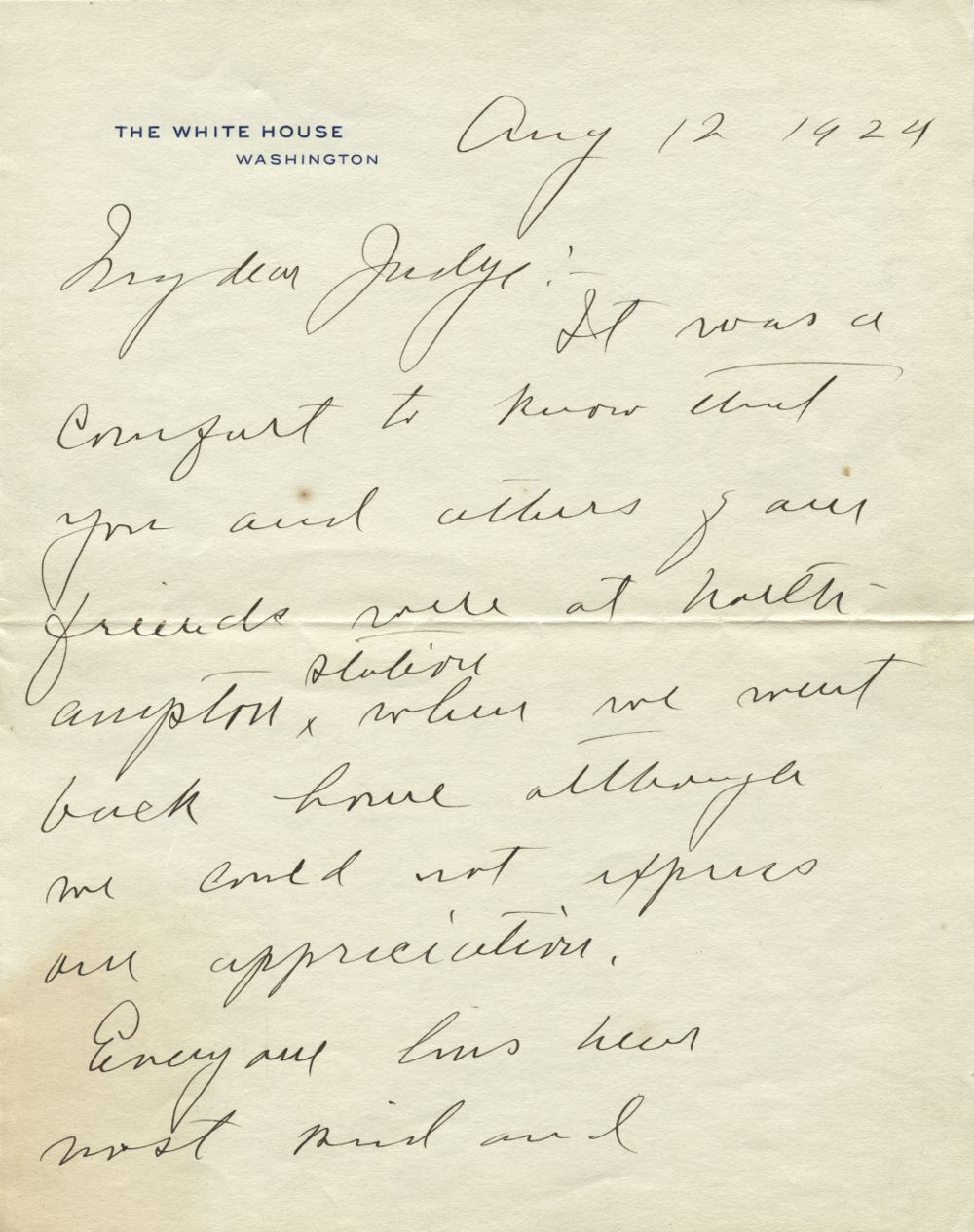 Calvin Coolidge Mourns the Death of His Son, Calvin Jr.