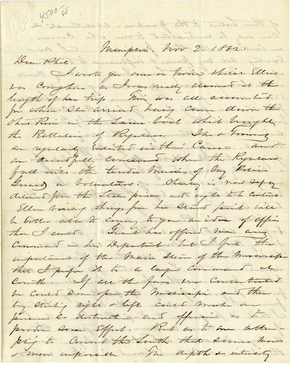 William Tecumseh Sherman Vents Anti-Semitic Prejudices, Discusses Runaway Slaves, & Sketches Total War