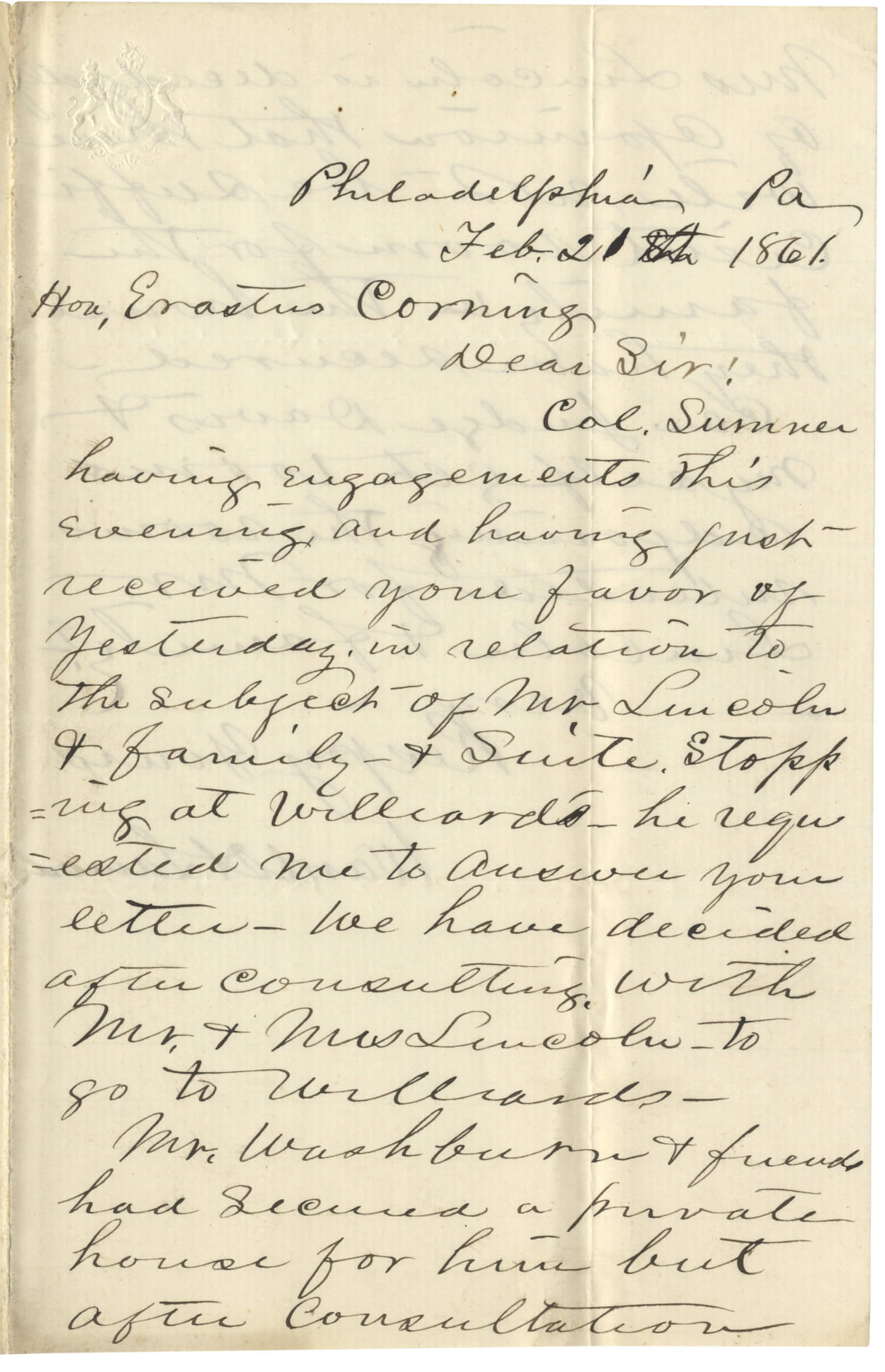 The Baltimore Plot and Attempted Assassination of Abraham Lincoln