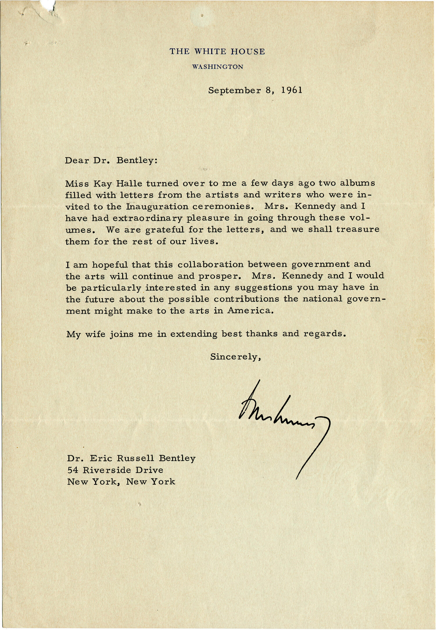 Kennedy and the Arts: His Unprecedented Invitation of Scholars, Artists, Writers, and Thinkers to His Inauguration