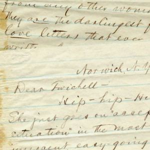 Mark Twain and Olivia Langdon: Twain Writes Ecstatically On The Pursuit Of His Future Wife