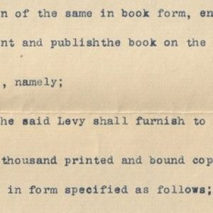 Simon Wolf's Original Contract For the Book