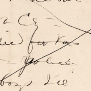Mark Twain's Autograph Notes Regarding People, Places, and Recalling an Incident