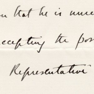 Winston Churchill Thanks Ormsby-Gore for Accepting Post to the Permanent Mandates Commission