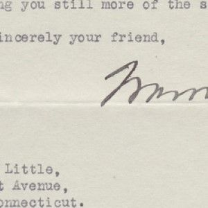 Warren G. Harding Thanks a Young Girl for a Four-Leaf Clover, Just as His Luck was Running Out
