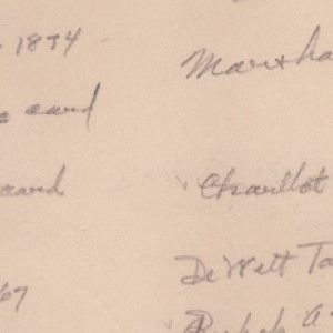 Herbert Hoover's Handwritten List of His Autograph Collection