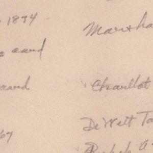 Herbert Hoover's Handwritten List of His Autograph Collection