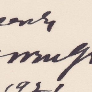 An Early, and Uncommon, Warren G. Harding White House Card Signed,