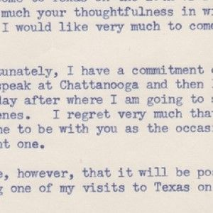 Sen. John F. Kennedy Declines McCarthyite Alvin Owsley's Invitation to Visit Texas; Invites Him to Lunch