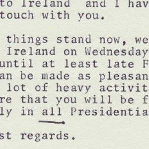 President John F. Kennedy Plans a Pleasure Trip to His Ancestral Home, Ireland