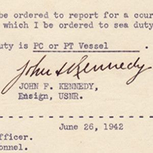 In 1942, Ensign J.F. Kennedy Requests Sea Duty on a PT Vessel: